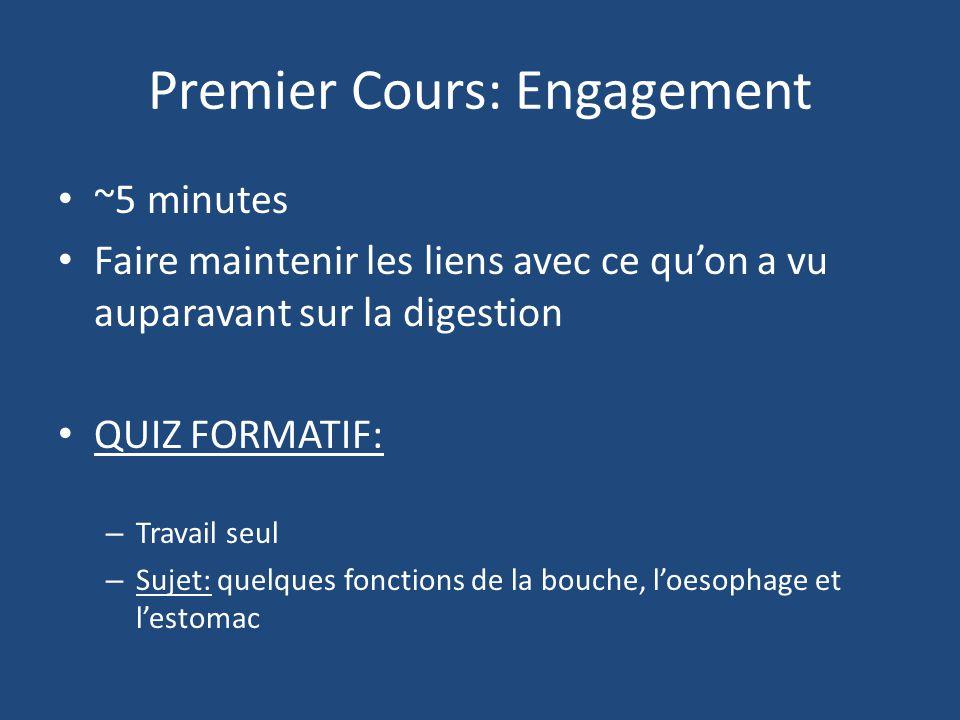 Premier Cours: Engagement
