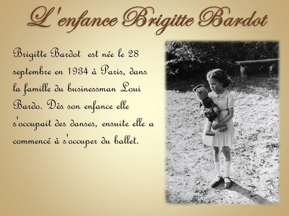 L enfance Brigitte Bardot