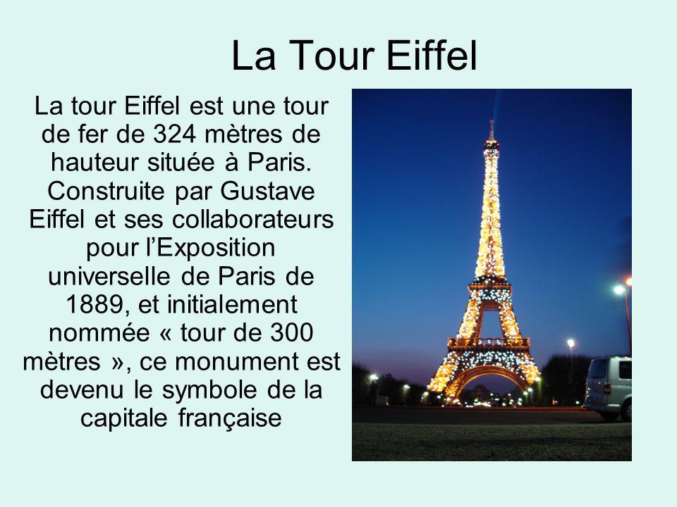 La tour eiffel la tour eiffel est une tour de fer de 324 for Combien de tour de teflon