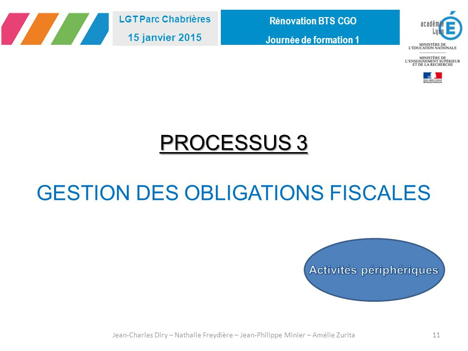 GESTION DES OBLIGATIONS FISCALES