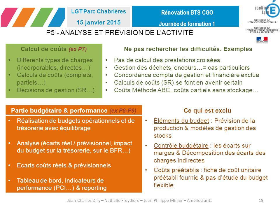 P5 - ANALYSE ET PRÉVISION DE L'ACTIVITÉ