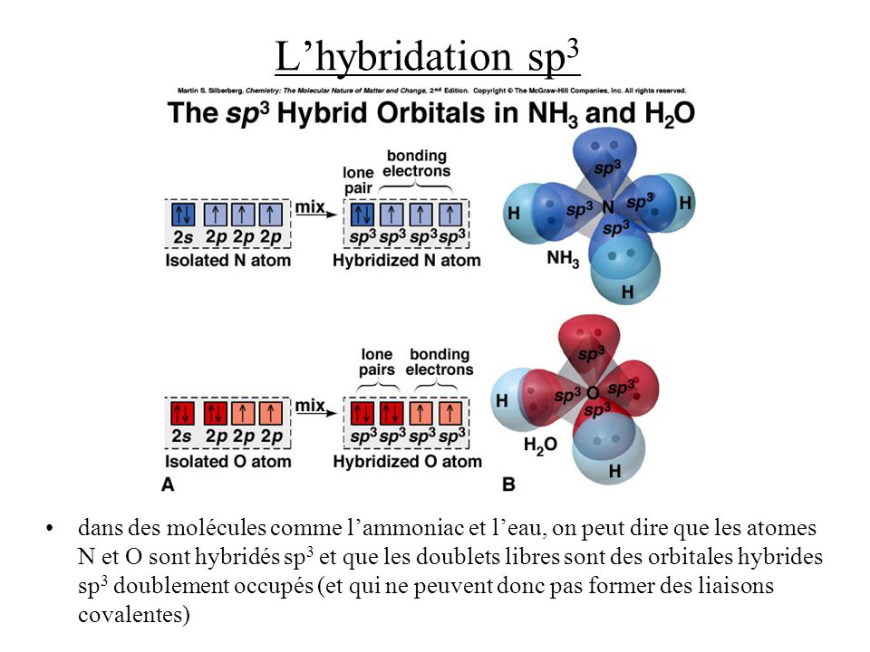 L'hybridation sp3