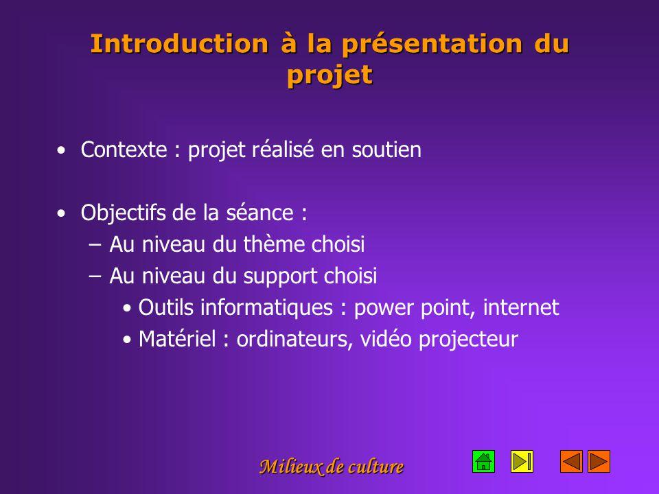 Introduction à la présentation du projet