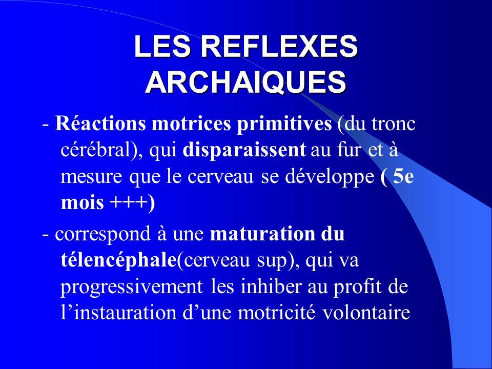 LES REFLEXES ARCHAIQUES