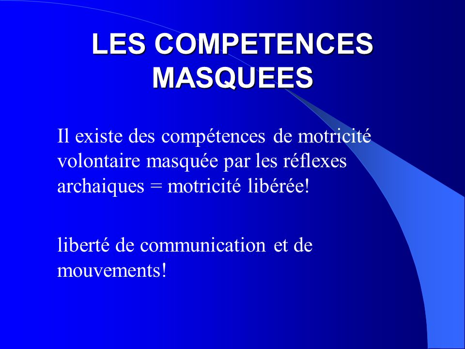 LES COMPETENCES MASQUEES