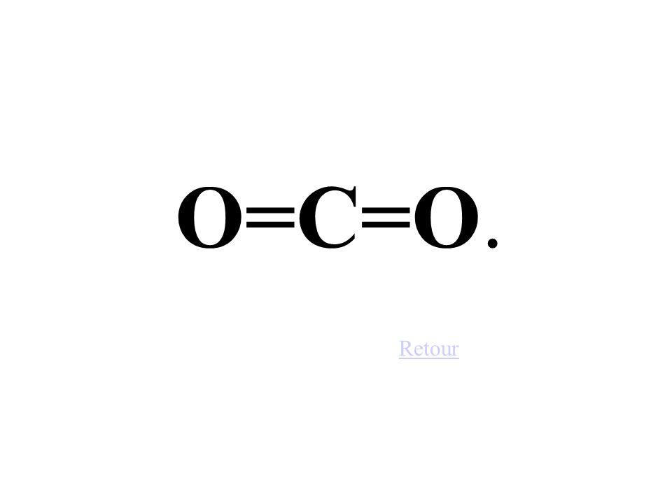 O=C=O. Retour