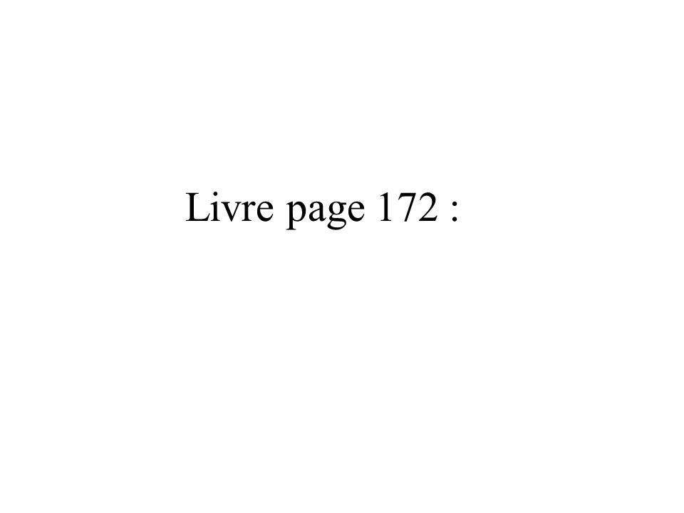 Livre page 172 :