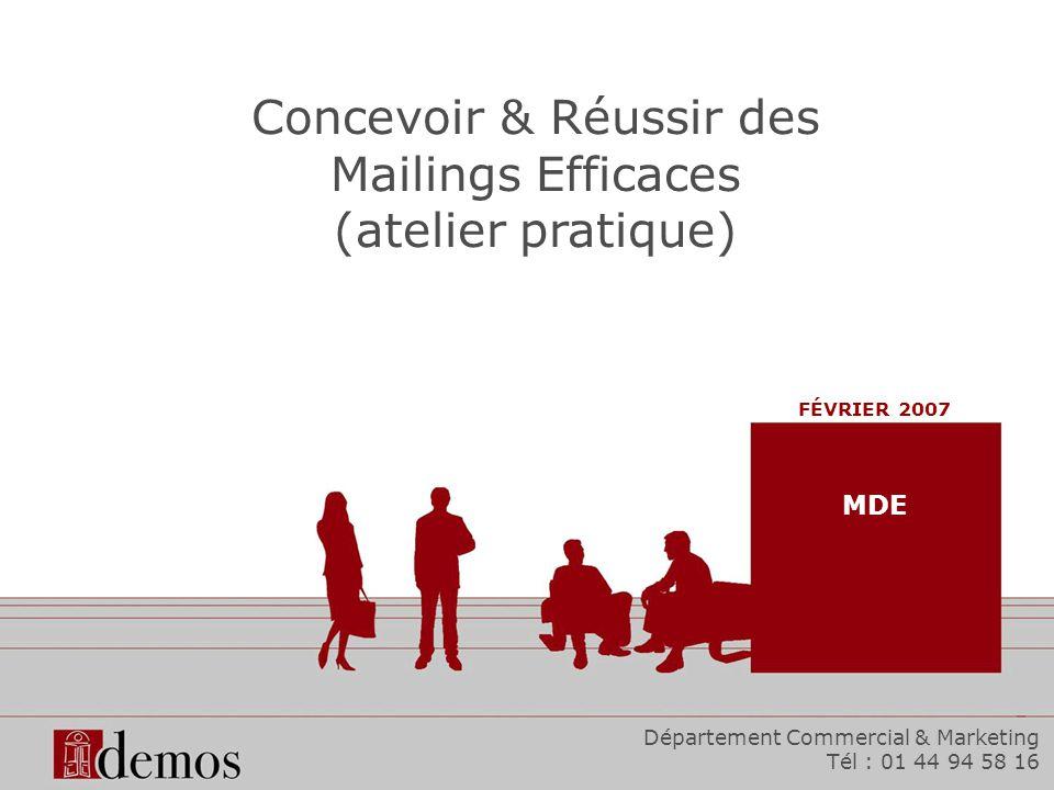 Concevoir & Réussir des Mailings Efficaces (atelier pratique)
