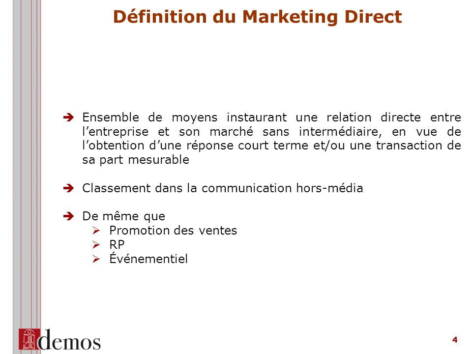 Définition du Marketing Direct