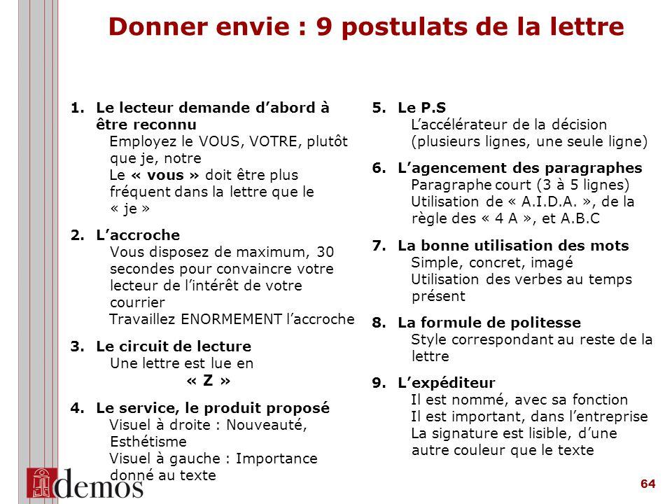 Donner envie : 9 postulats de la lettre