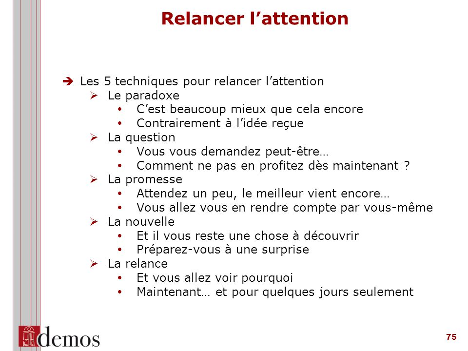 Relancer l'attention Les 5 techniques pour relancer l'attention