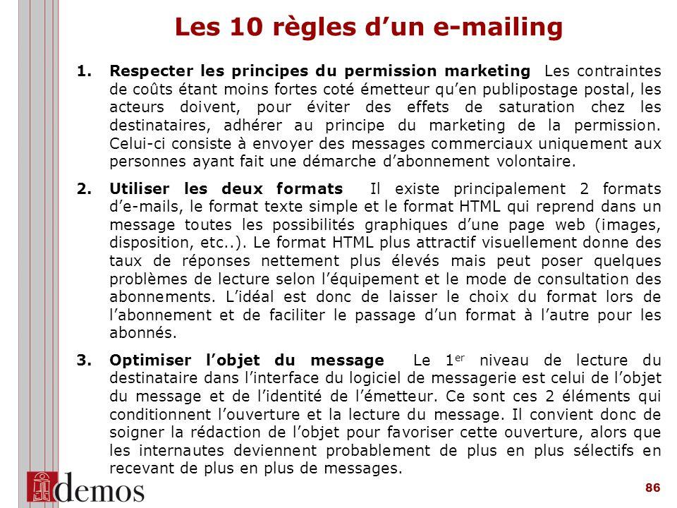 Les 10 règles d'un e-mailing