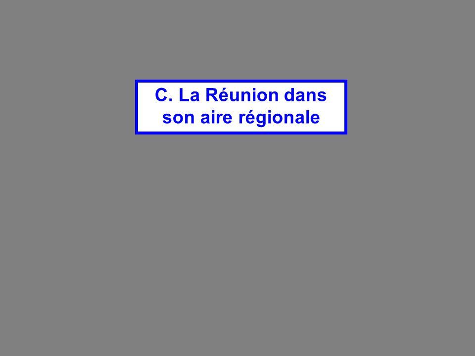 C. La Réunion dans son aire régionale
