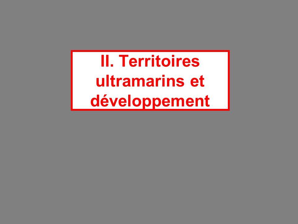 II. Territoires ultramarins et développement