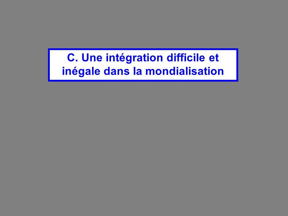 C. Une intégration difficile et inégale dans la mondialisation