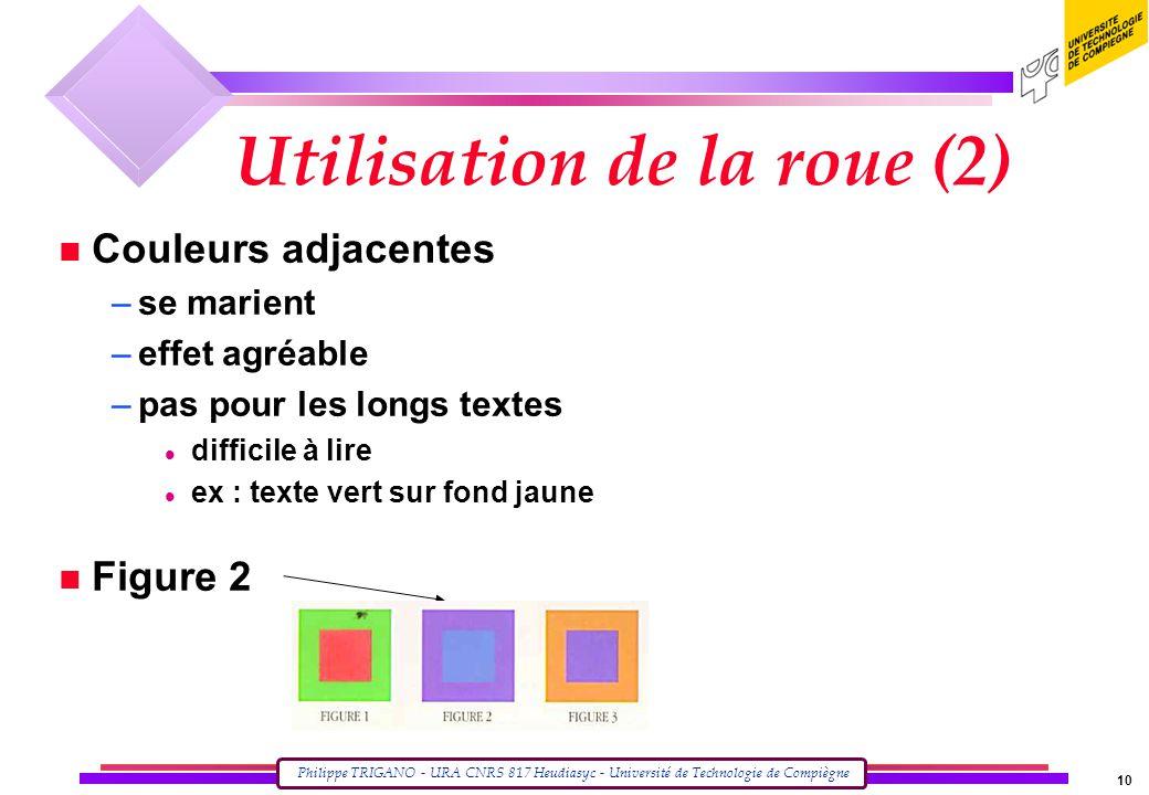 Utilisation de la roue (2)