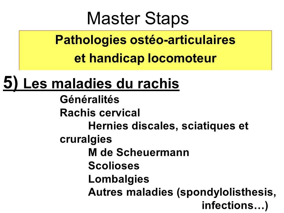 Pathologies ostéo-articulaires