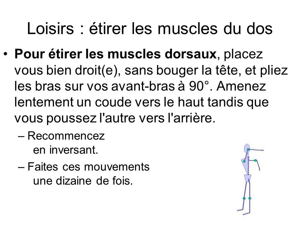 Loisirs : étirer les muscles du dos