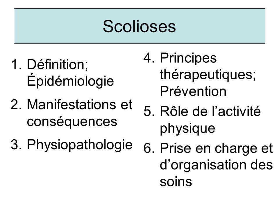 Scolioses Principes thérapeutiques; Prévention