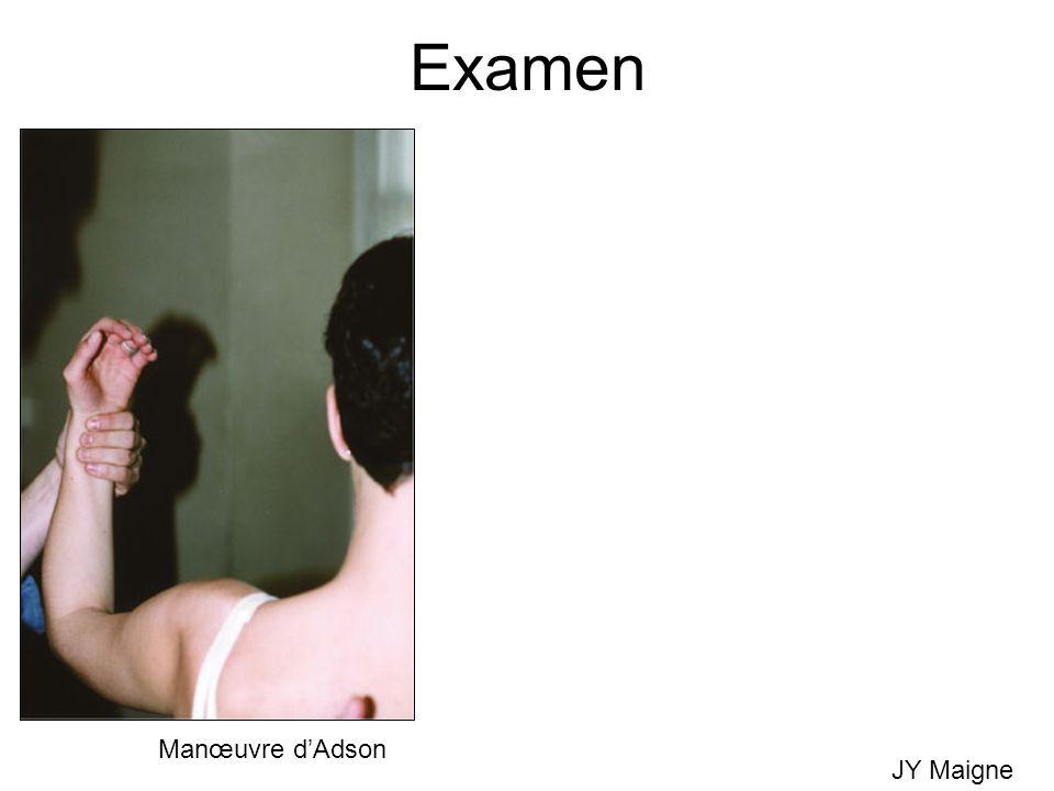 Examen Manœuvre d'Adson JY Maigne