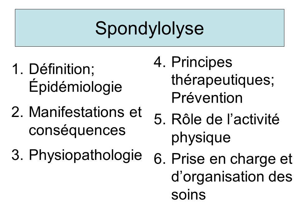 Spondylolyse Principes thérapeutiques; Prévention