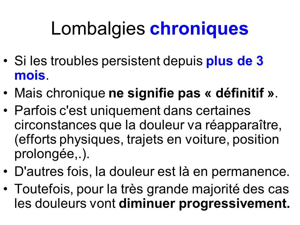 Lombalgies chroniques
