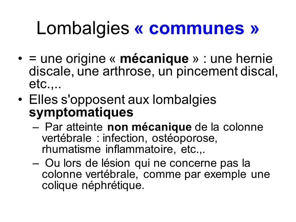 Lombalgies « communes »