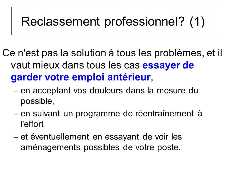 Reclassement professionnel (1)