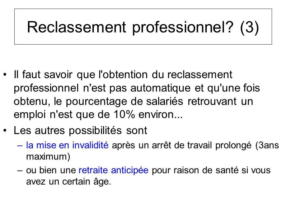 Reclassement professionnel (3)