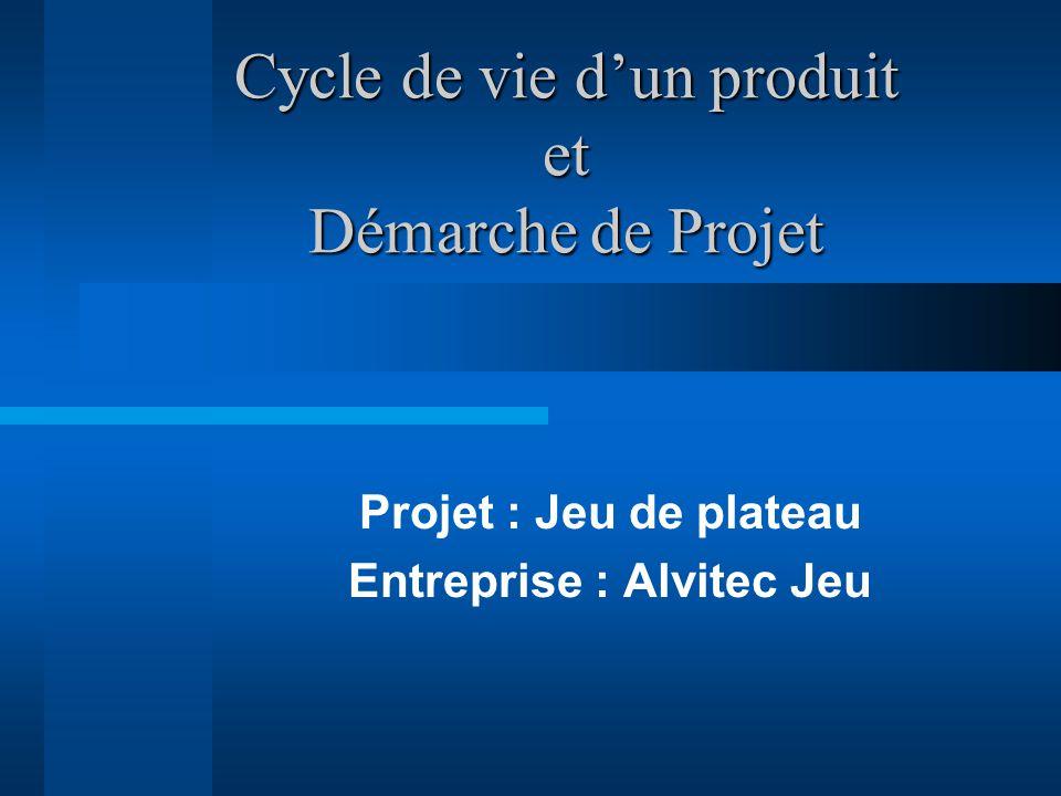Cycle de vie d'un produit et Démarche de Projet