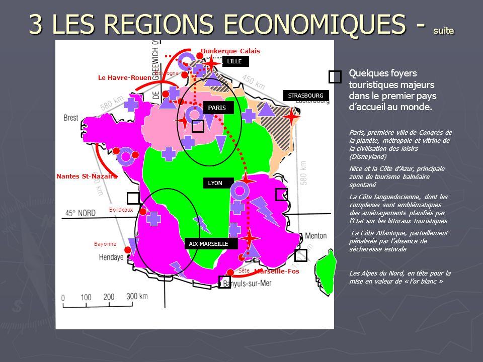 3 LES REGIONS ECONOMIQUES - suite