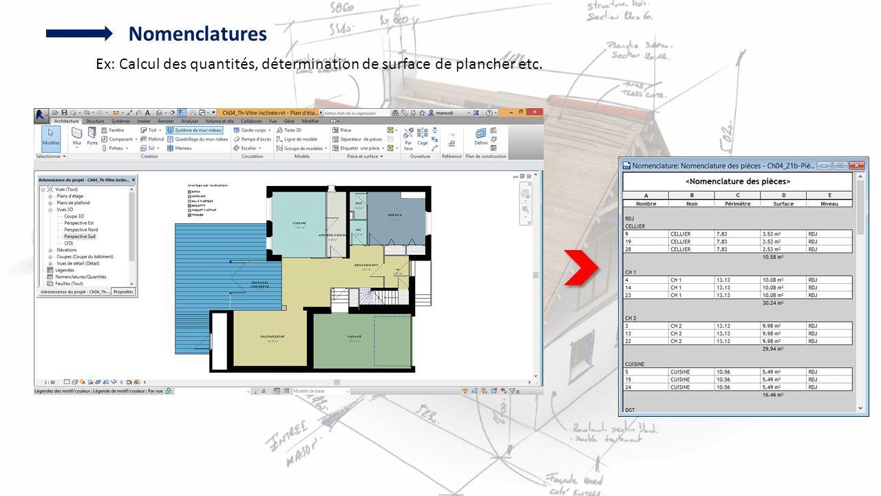 7 nomenclatures ex calcul des quantités détermination de surface de plancher etc