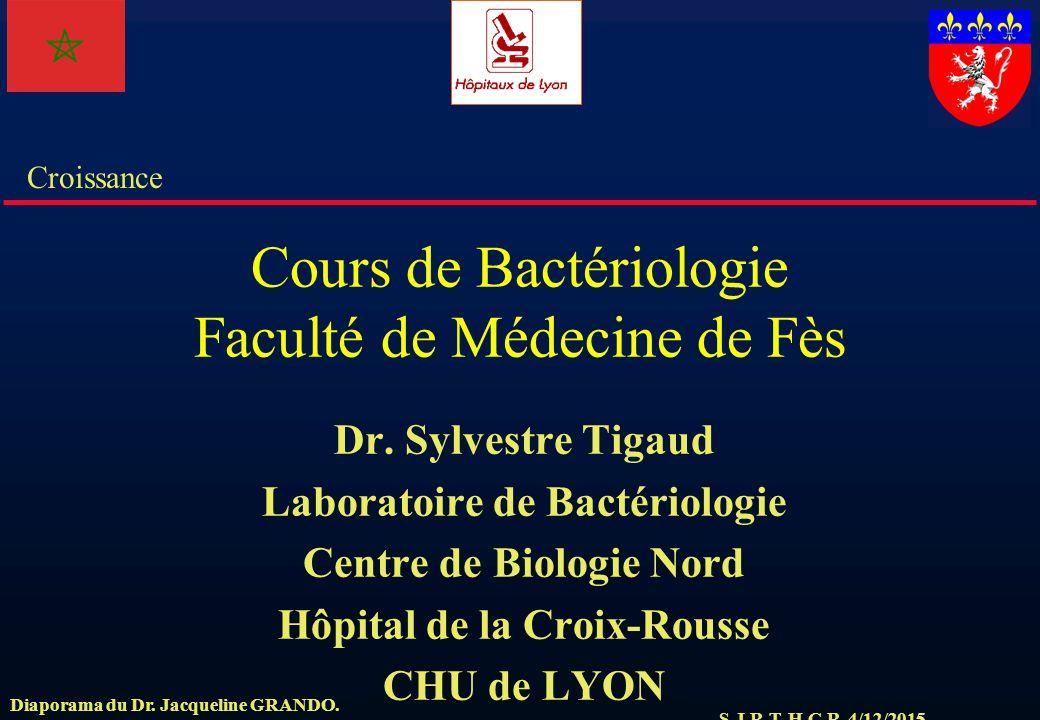 Cours de Bactériologie Faculté de Médecine de Fès