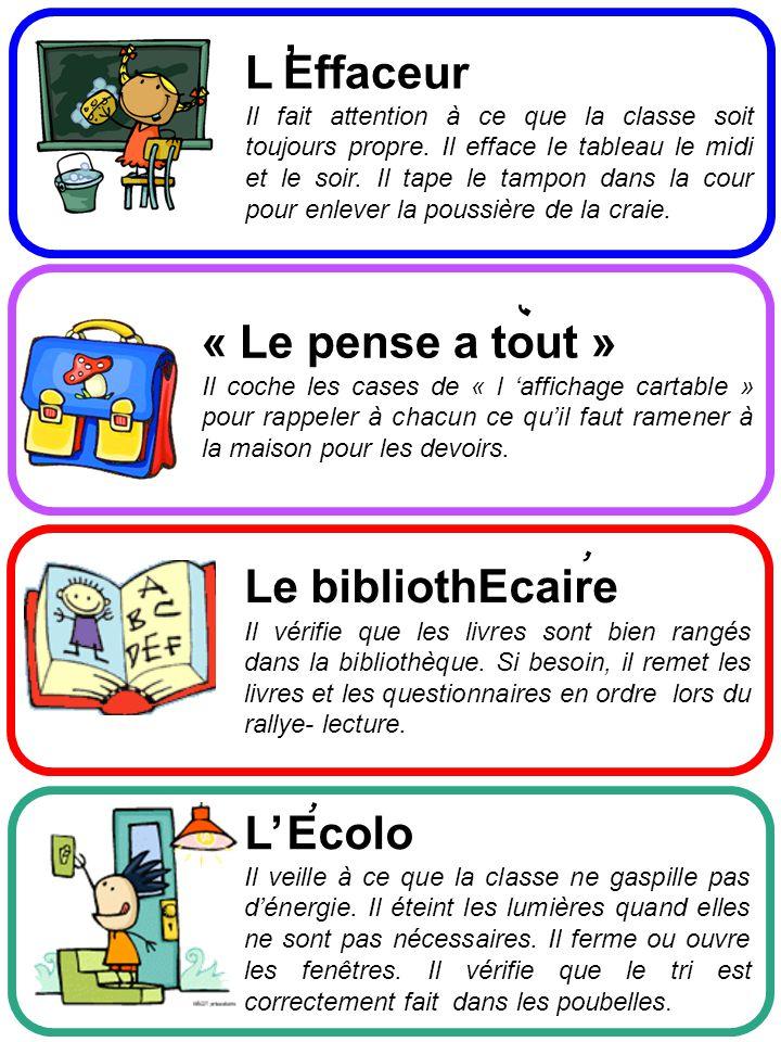 , L Effaceur « Le pense a tout » , , Le bibliothEcaire , L' Ecolo