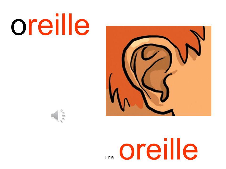 oreille une oreille