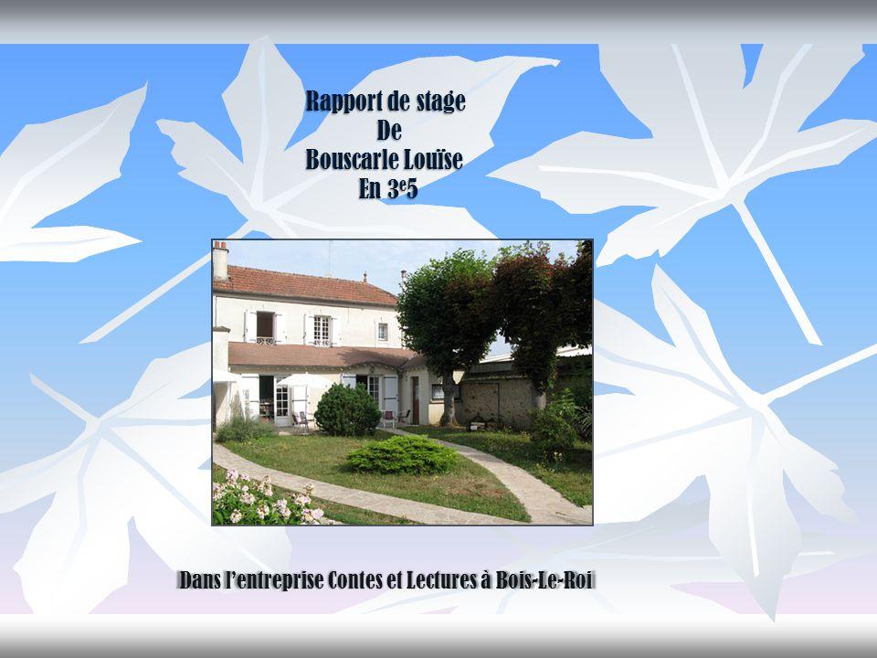 Rapport de stage De Bouscarle Louïse En 3e5