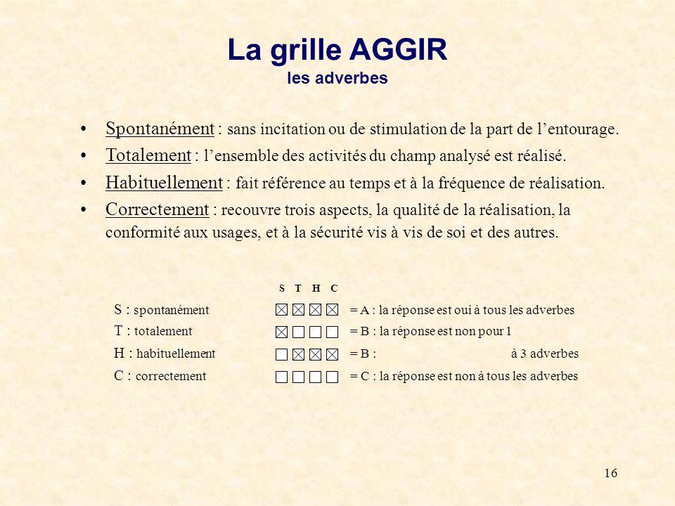 L evaluation en geriatrie et en gerontologie ppt t l charger - Definition de la grille aggir ...