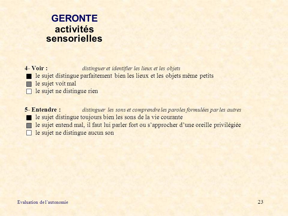 GERONTE activités sensorielles