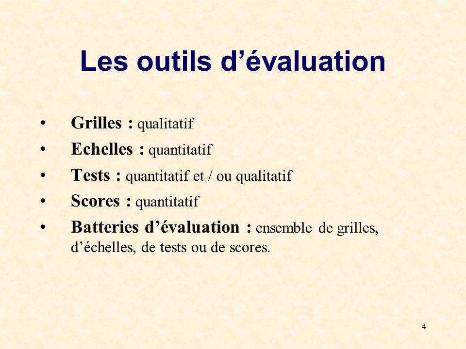 Les outils d'évaluation
