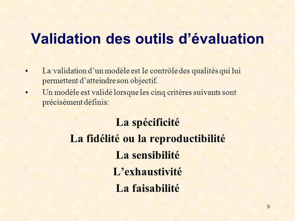 Validation des outils d'évaluation