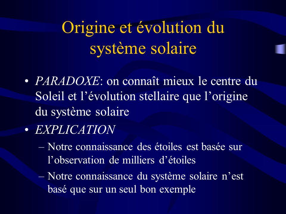 le syst u00e8me solaire origine et  u00c9volution composantes