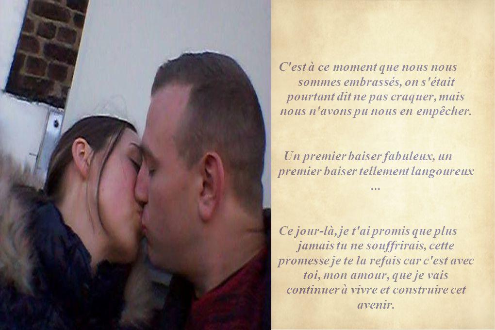 Un premier baiser fabuleux, un premier baiser tellement langoureux ...