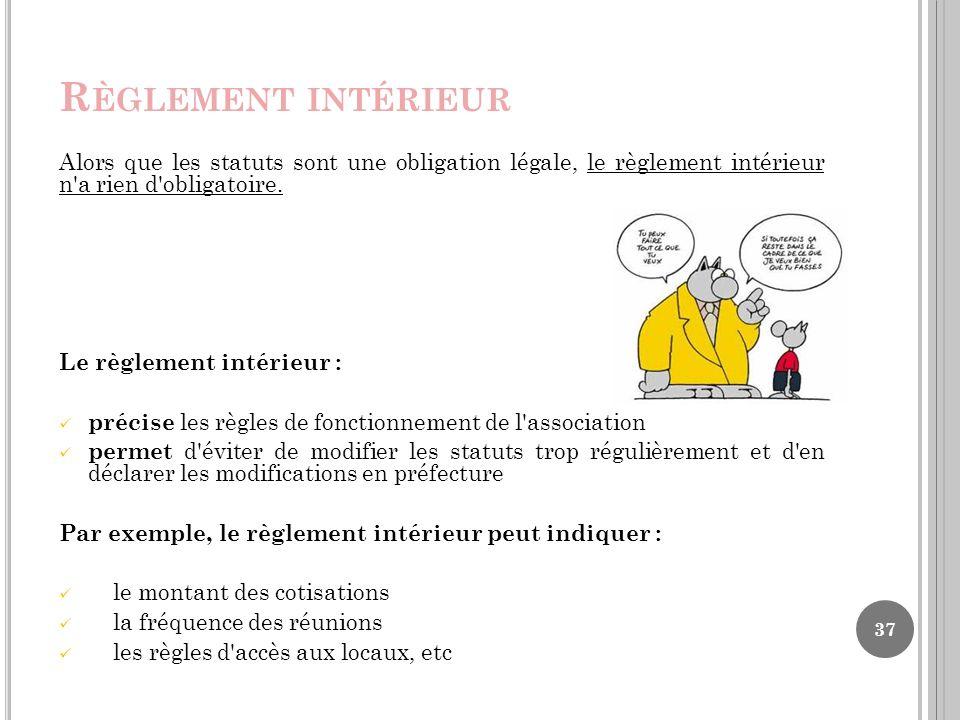 Td grh licence 3 developpement social ppt t l charger for Exemple reglement interieur association