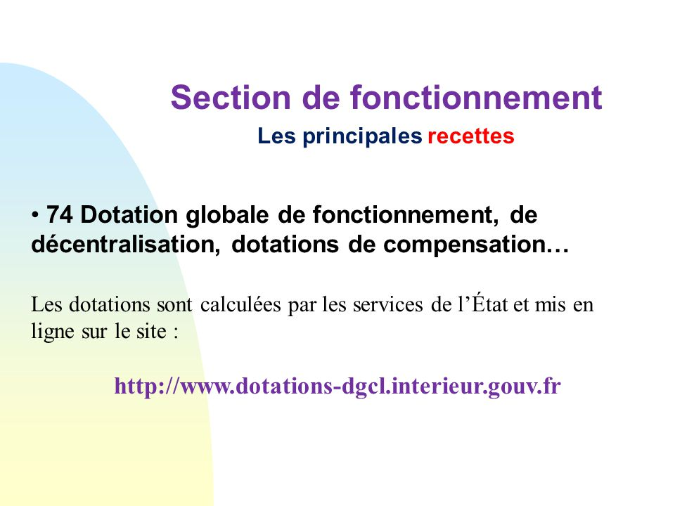 Le budget communal et intercommunal ppt video online for Dgcl interieur gouv fr