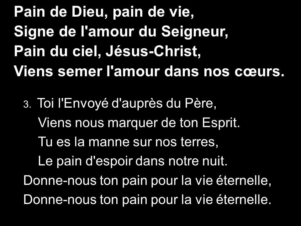 Signe de l amour du Seigneur, Pain du ciel, Jésus-Christ,