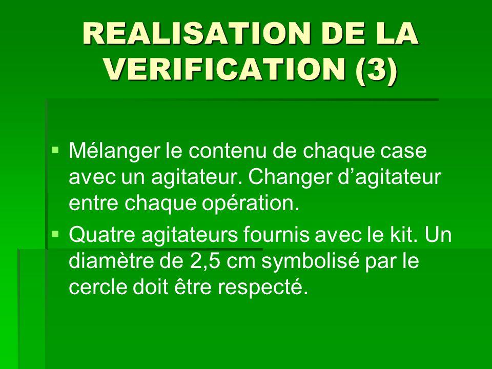 REALISATION DE LA VERIFICATION (3)