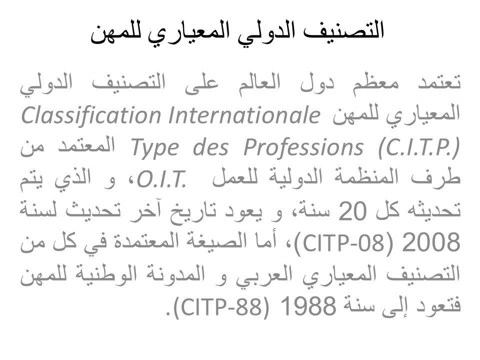التصنيف الدولي المعياري للمهن