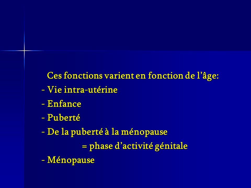 Ces fonctions varient en fonction de l'âge: