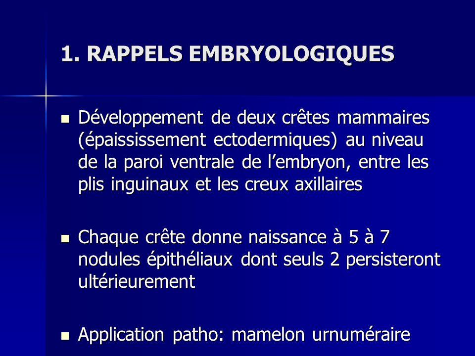 1. RAPPELS EMBRYOLOGIQUES