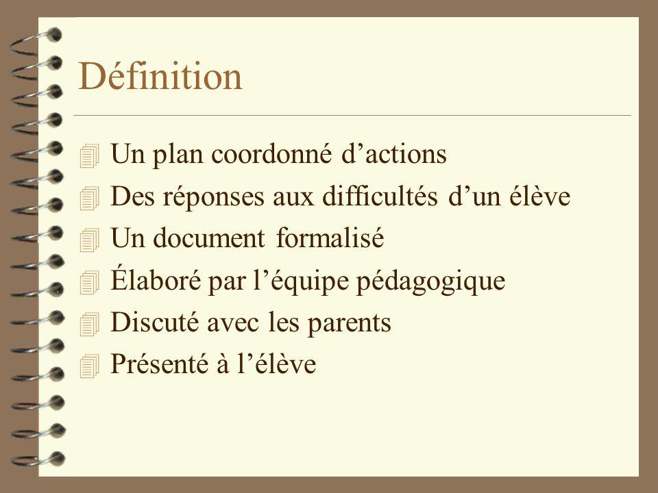 Définition Un plan coordonné d'actions